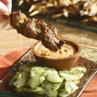 Indonesian Beef Satay with Spicy Peanut Sauce Recipe
