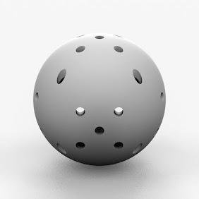 穴付きボール大