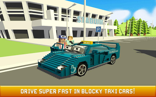 Blocky Taxi Driver: City Rush 1.3 screenshots 4