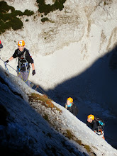 Photo: Via ferraty a vysokohorská turistika v pohoří Totes Gebirge ve východních Alpách v Rakousku (pátek 3. - neděle 5. říjen 2014). Zdolané vrcholy Spitzmauer-Gipfel 2446 m n. m., Grosser Priel 2515 m n. m. Výchozí bod - chata Prielschutzhaus A-4573 Hinterstoder, 1420 m n. m.