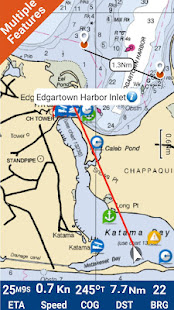 Martha's Vineyard & Nantuket Island GPS Map - náhled