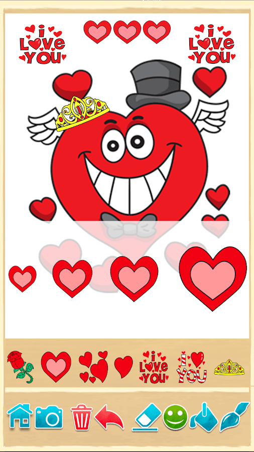Valentines love coloring book- screenshot