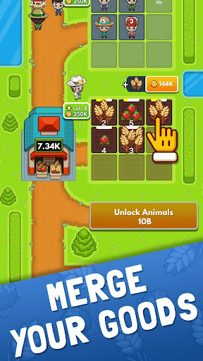 Idle Farm Tycoon - Merge Simulator apkpoly screenshots 2