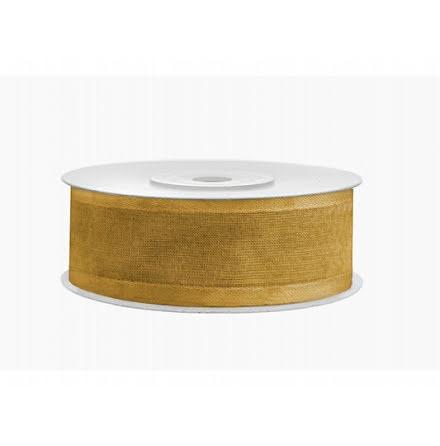 Chiffongband - guld