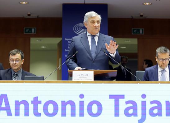 Antonio Tajani, Bruxelles 27.11.2018 - © European Union 2018 - Source EP -080316B, fotografo Daina Le Lardic