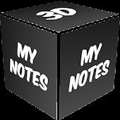 3D My Notes Live Wallpaper