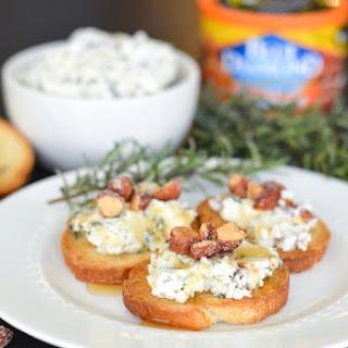 Rosemary Almond Goat Cheese Crostinis