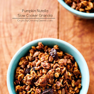 Nutella Pumpkin Slow Cooker Granola