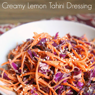 Coleslaw with Creamy Lemon Tahini Dressing