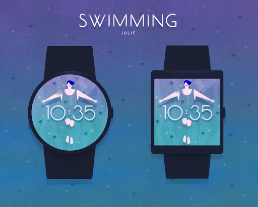 Swimming watchface by Julie
