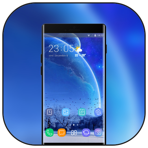 Theme for space galaxy planet asus zenfone max icon