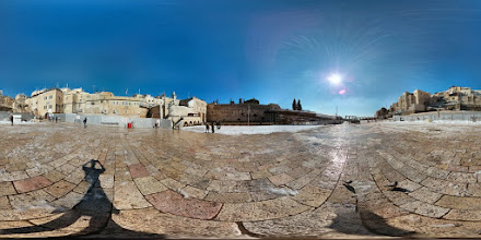 Photo: A truly rare sight - the Western Wall Courtyard when it's virtually empty thanks to the big Middle East snowstorm of 2013!