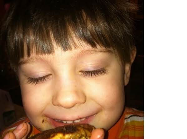 This Is Ashton (almost 4) Enjoying A Pancake As If It Were A Cookie!  These Are His Favorite!