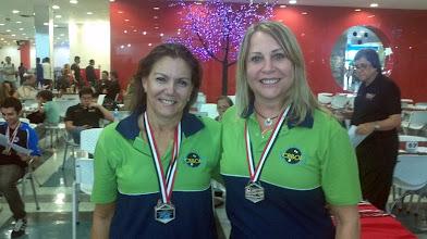 Photo: Titila Alvarez & Sarah Guterman (PRATA nas duplas femininas 1.ª divisão)