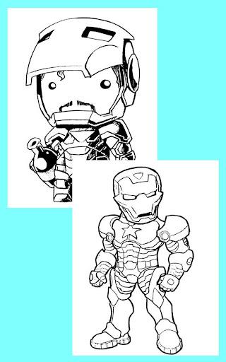 Iron Coloring Book Man Kids