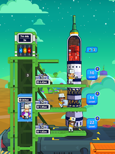 Rocket Star - Idle Space Factory Tycoon Game android2mod screenshots 14