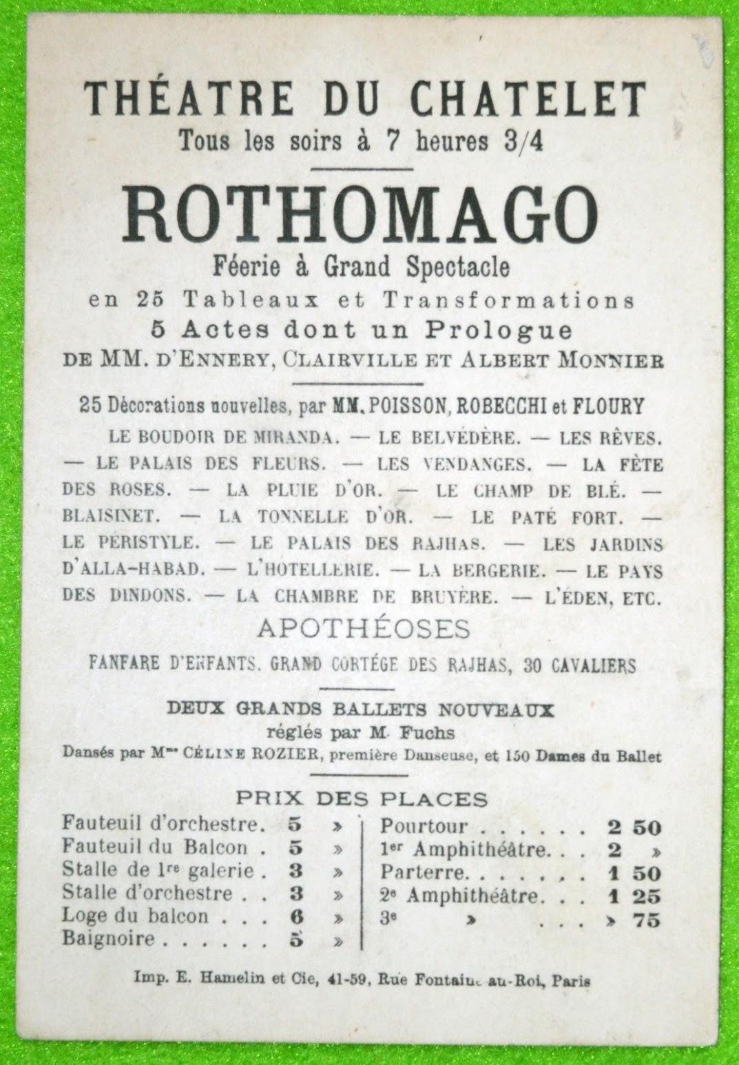 "Rothomago ""Feerie & Grand Spectacle"" - Johannes Rothomago 1880 / 1890"