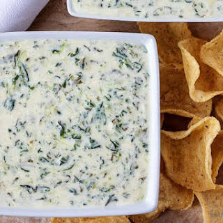 Instant Pot Hot Spinach Dip.