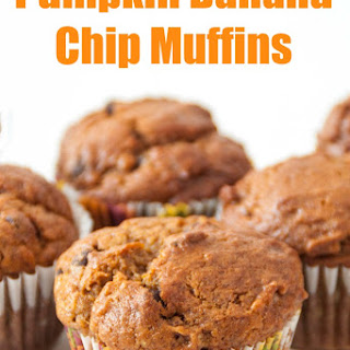 Pumpkin Banana Chip Muffins