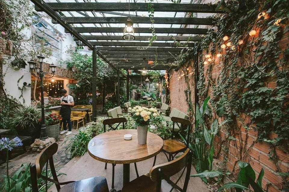 Thiết kế quán cafe sân vườn 80m2 theo phong cách hiện đại