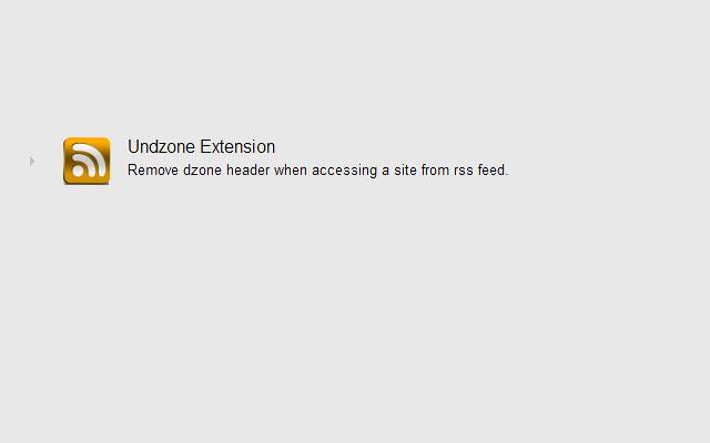 Undzone Extension