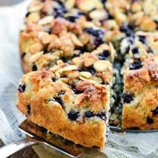 Gluten Free Almond Blueberry Coffee Cake.