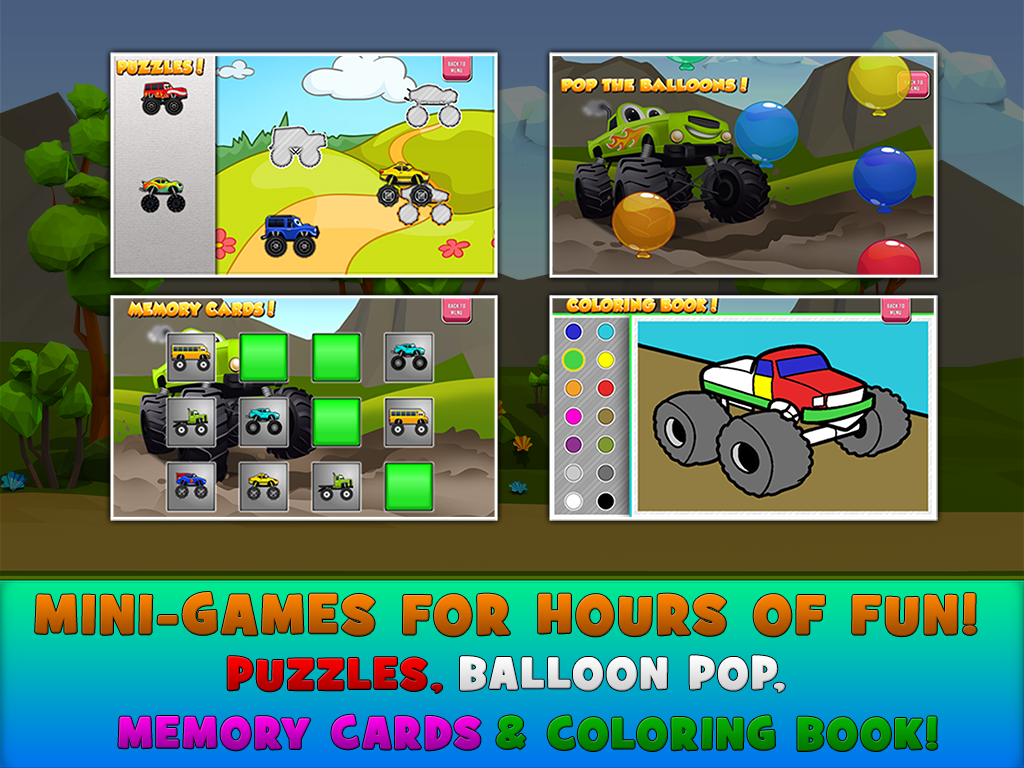 monster trucks game for kids 2 android apps on google play