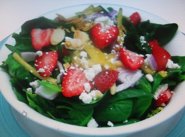 Spinach And Strawberry Salad With Sugar Pecans Recipe