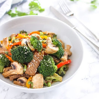 Ginger Beef and Broccoli Stir Fry.