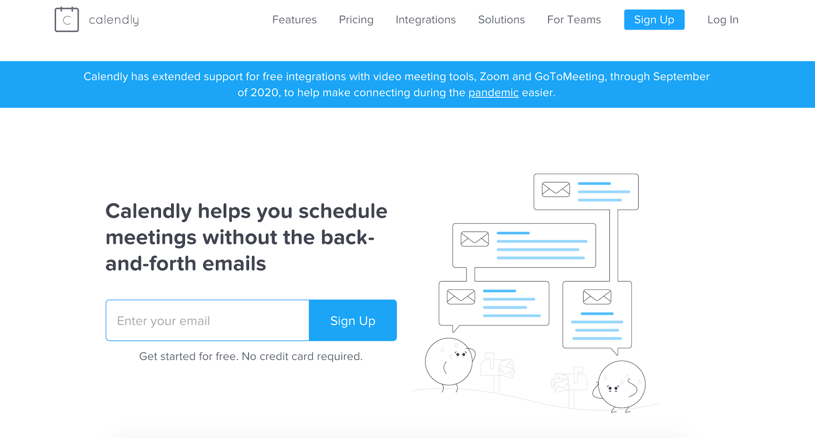 Calendly scheduling automation homepage