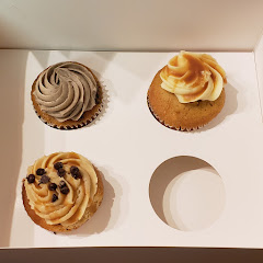 Cookies and cream, salted caramel and Blondie.