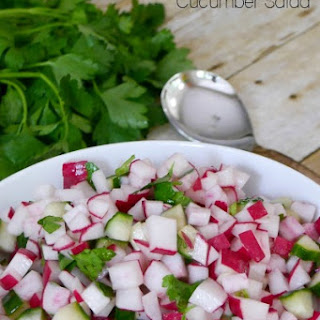 Low Carb Radish and Cucumber Salad Recipe