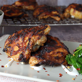 """Oven """"Grilled"""" Asian Chicken Thighs"""
