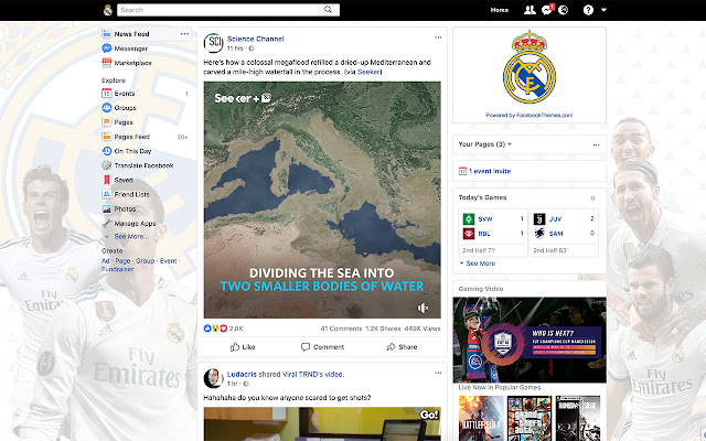 Real Madrid Theme for Facebook