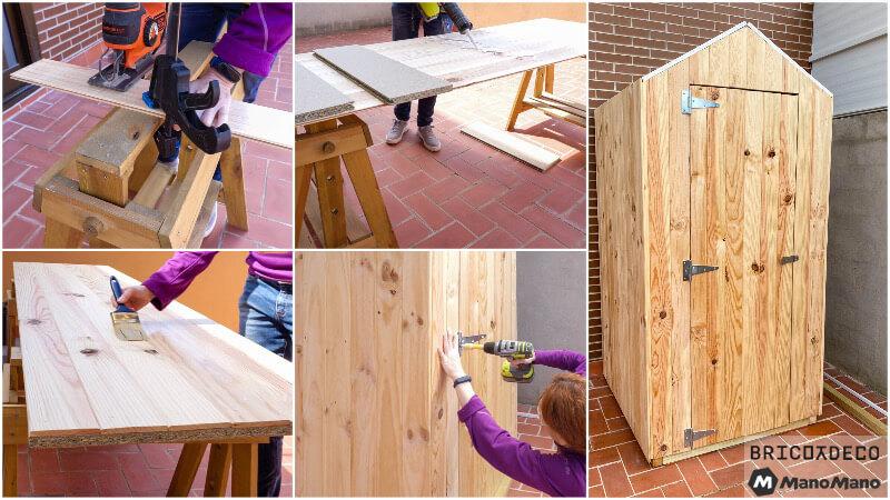 caseta de madera para exterior