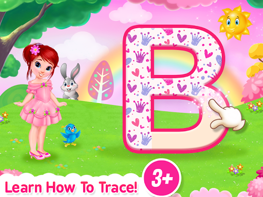 Princess ABC Letters, 123 Numbers Tracing For Kids  screenshots 1