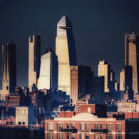 Manhattan skyline  by Aurelio Firmo - City,  Street & Park  Skylines ( manhattan, skyline, new york,  )