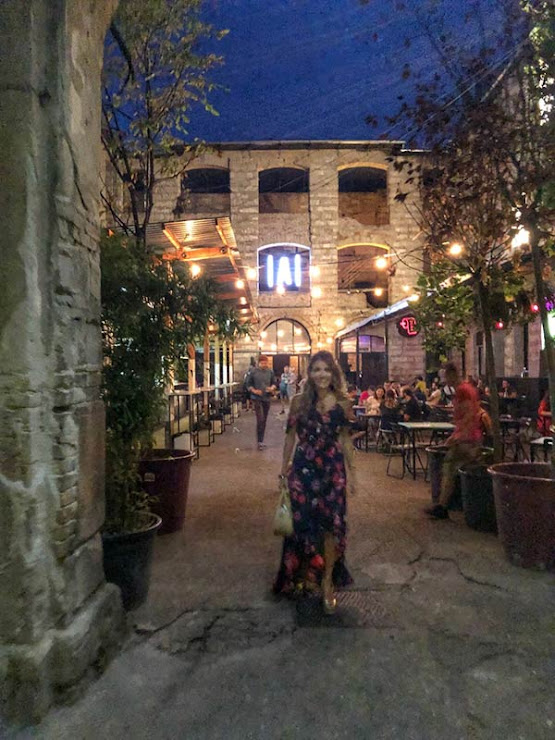 The alleyway leading to Anker't, an expansive space in the ruin bar scene.