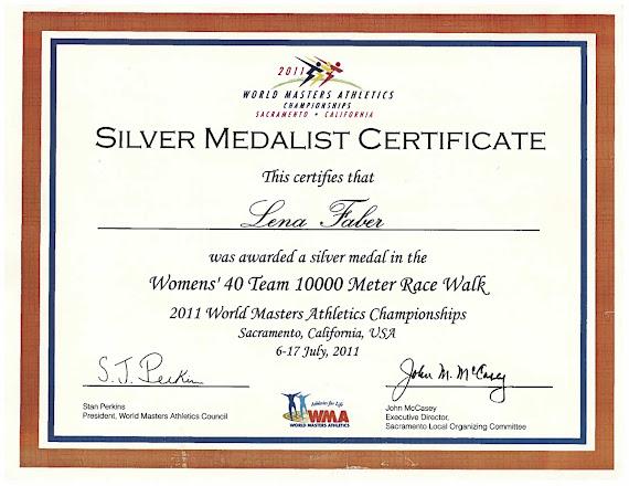 Photo: My #WorldMastersAthletic certificate