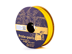 CLEARANCE - Proto-Pasta Yellow Matte Fiber HTPLA Filament - 2.85mm (0.5kg)