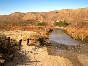 Photo: This is a crossing on the mojave river, used by cars, trucks and pretty much anyone who need to cross from one side to another. It was deep enough to dissuade crossing by foot.