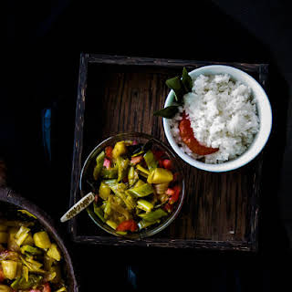 Potato and leeks Curry.