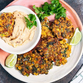 Spicy Corn Fritters with Chipotle Dip Recipe