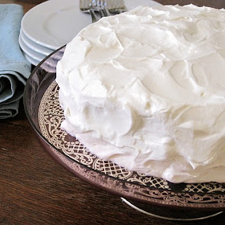 Chocolate-Strawberry Layer Cake with Whipped Cream Cheese Frosting.