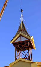 Photo: Another view of the cute little tower going up.