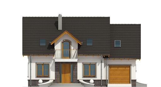 Dom Dla Ciebie 5 z garażem 1-st. A2 - Elewacja przednia