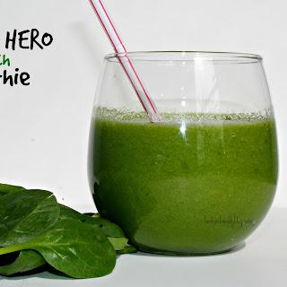 Super Hero Spinach Smoothie.