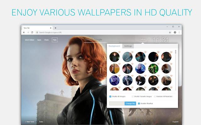 Marvel Black Widow Wallpaper HD Marvel Black Widow New Tab