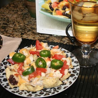 Healthy Chicken Nachos.