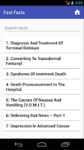 Palliative Care Fast Facts- screenshot thumbnail